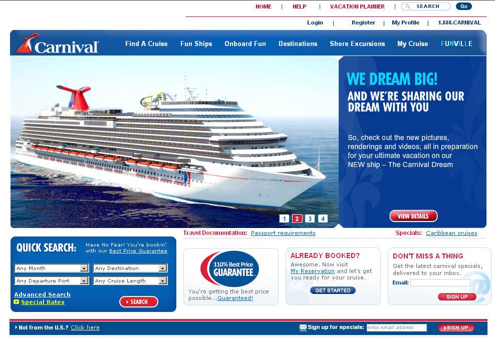 Carnival Homepage