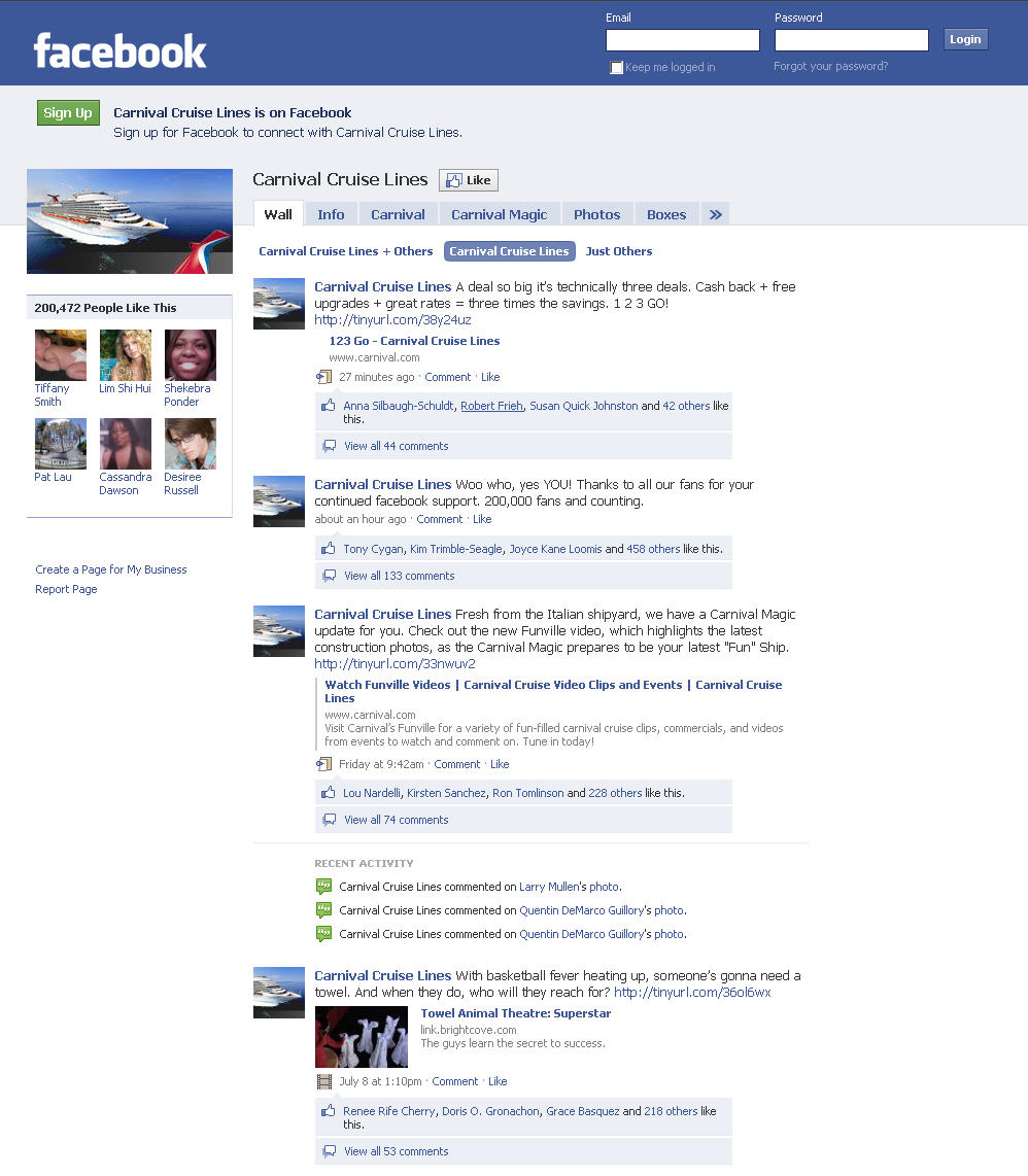 facebook wall page Facebook Wall Template
