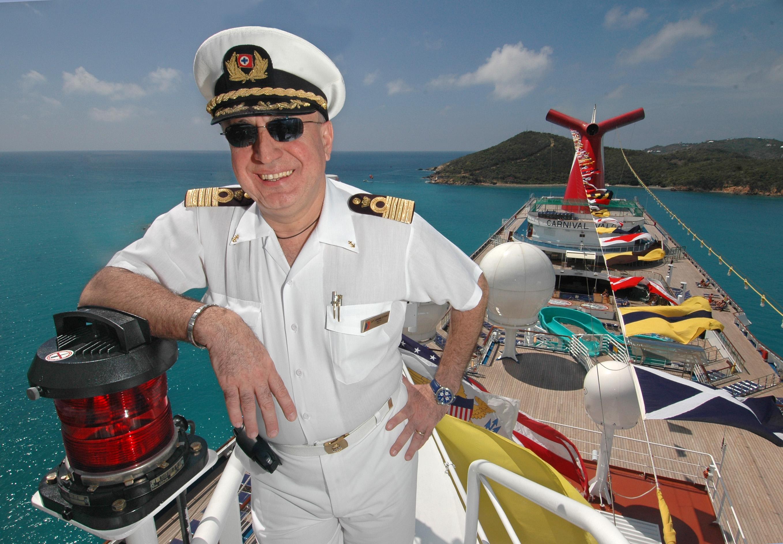 Carnival Cruise Line News - Captain on cruise ship