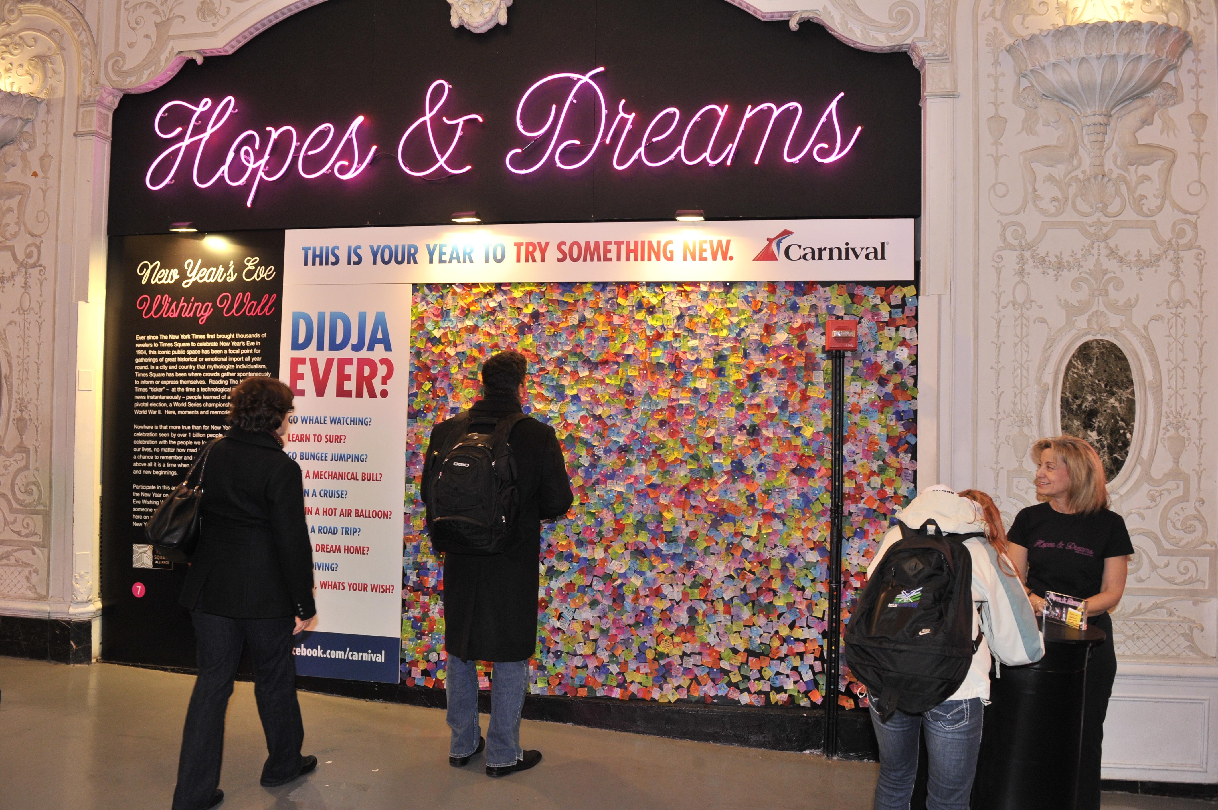 New York Wishing Wall Carnival Cruise Line News