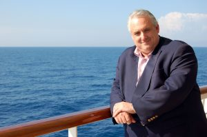 Cruise Director John Heald on deck, Carnival Freedom