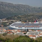 Carnival Breeze Leaving Dubrovnik