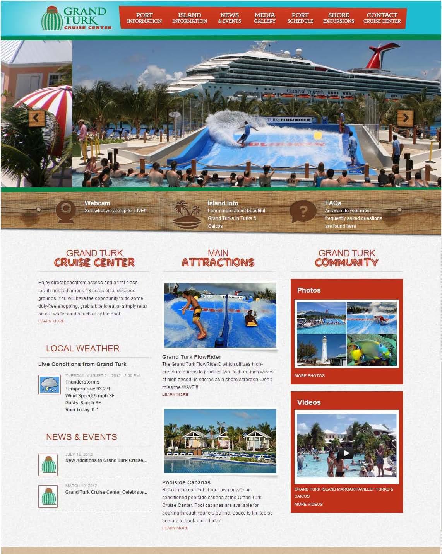 grand turk cruise center enhances web site carnival cruise line news