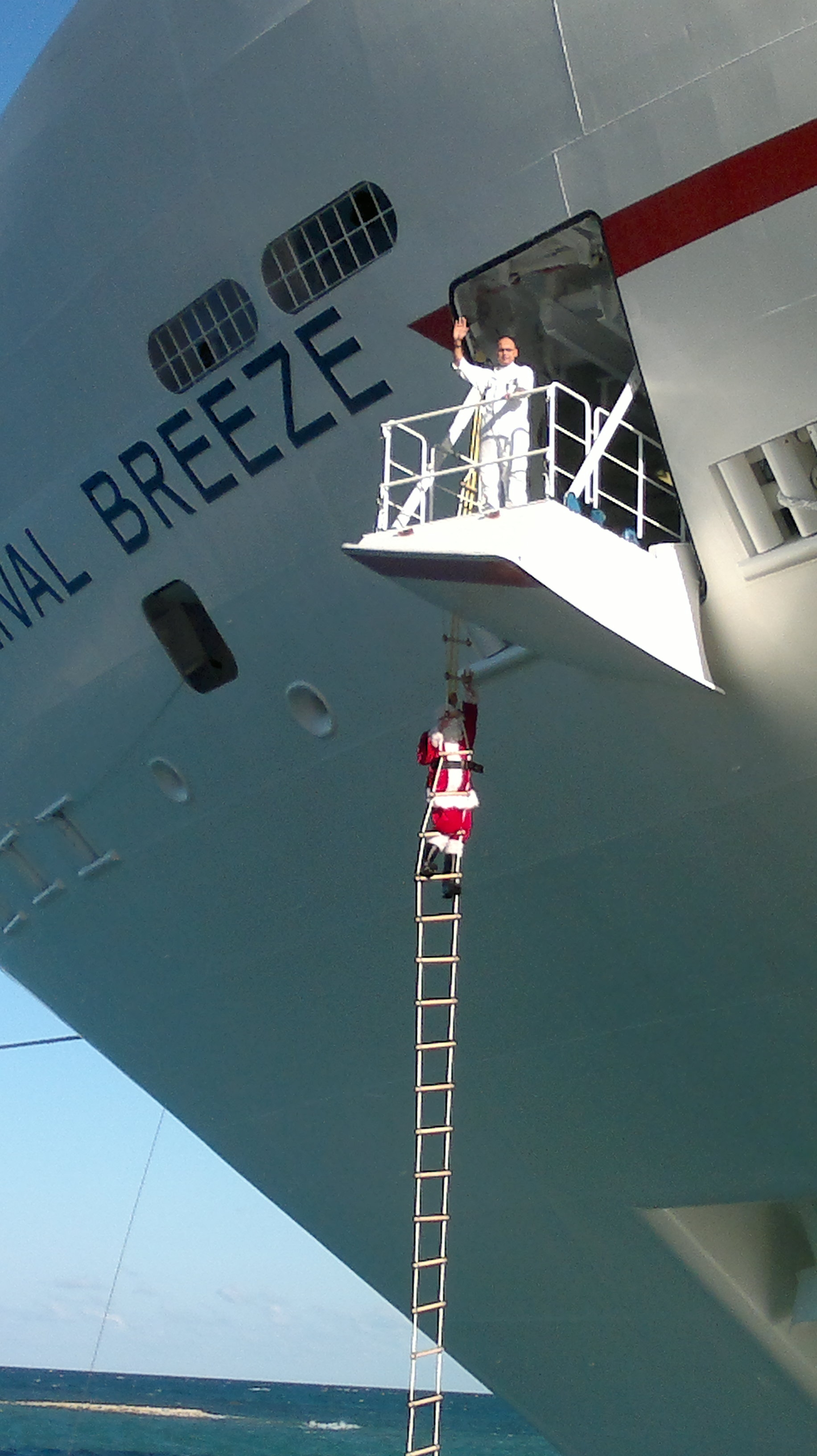 Carnival Breeze Gets A Special Visit From Santa