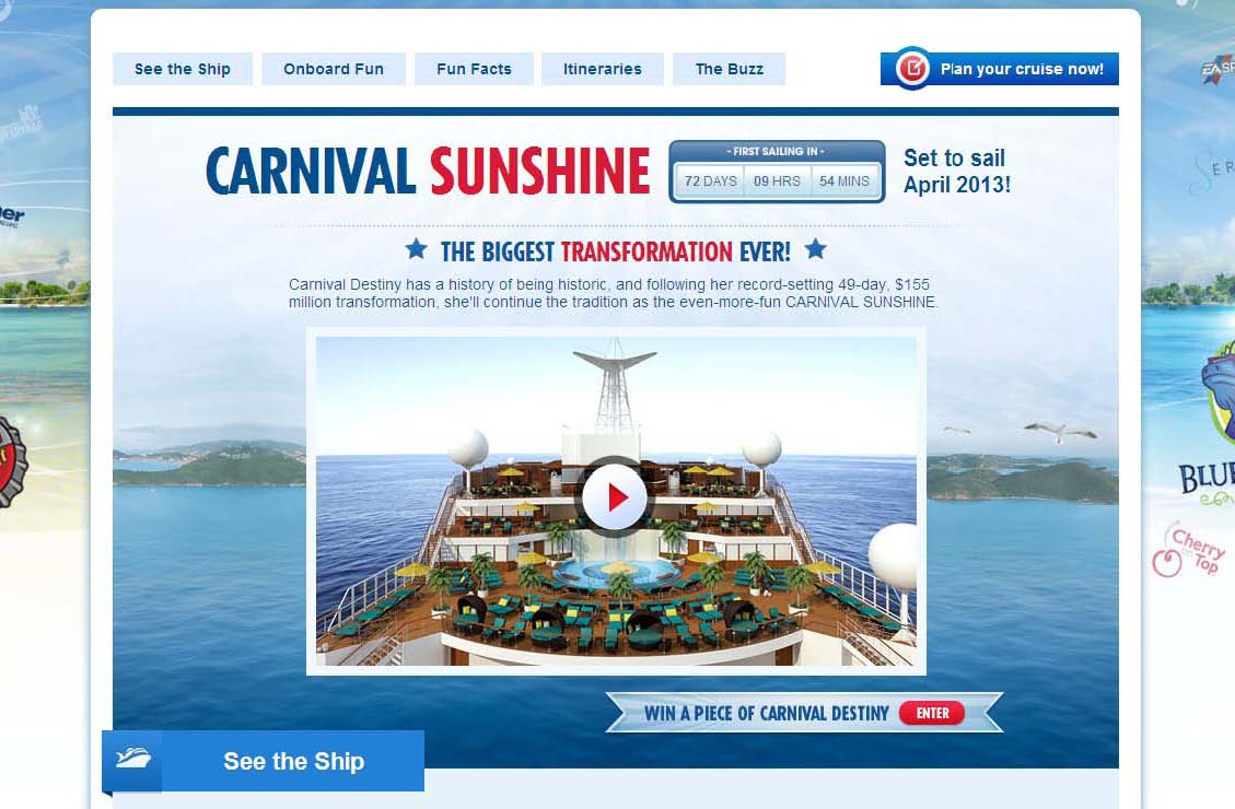 Carnival cruise line news for Free virtual home tours online
