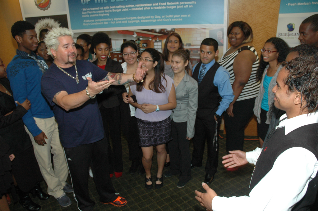 Popular Food Network Chef Guy Fieri Gives Kids Participating in Carnival's Scholarship & Mentoring Program a Rockin' Inspirational Speech