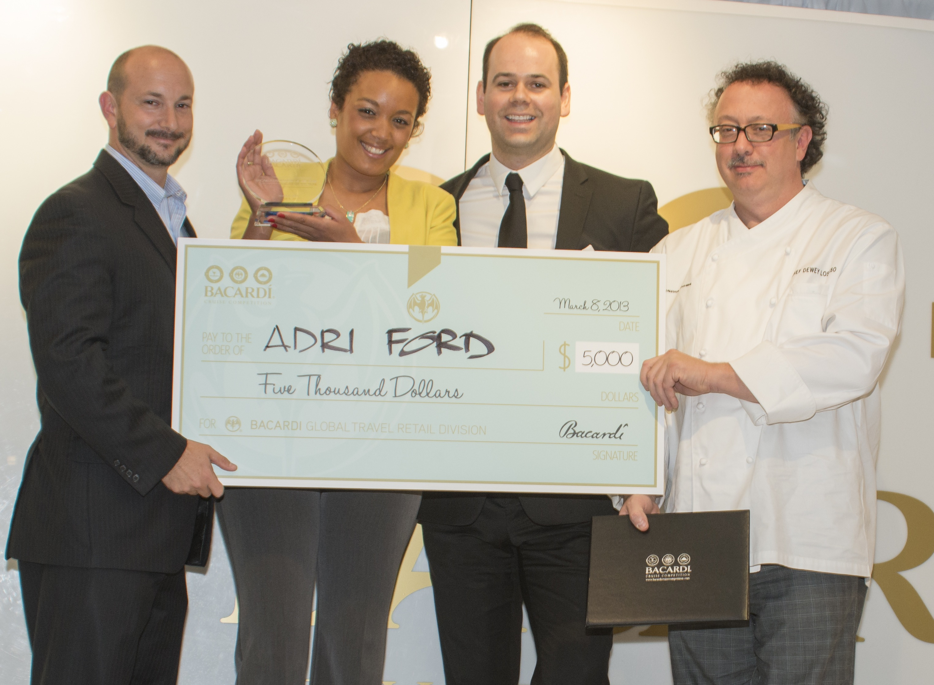Carnival's Adri Ford Named 'Bartender of the Year' at Bacardi Cruise Competition For Second Year in a Row