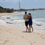 Nate and Shannon take a walk on the beach in beautiful Grand Turk.