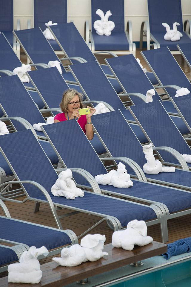 'Towel Animal Zoo' A Big Hit Aboard Carnival Sunshine