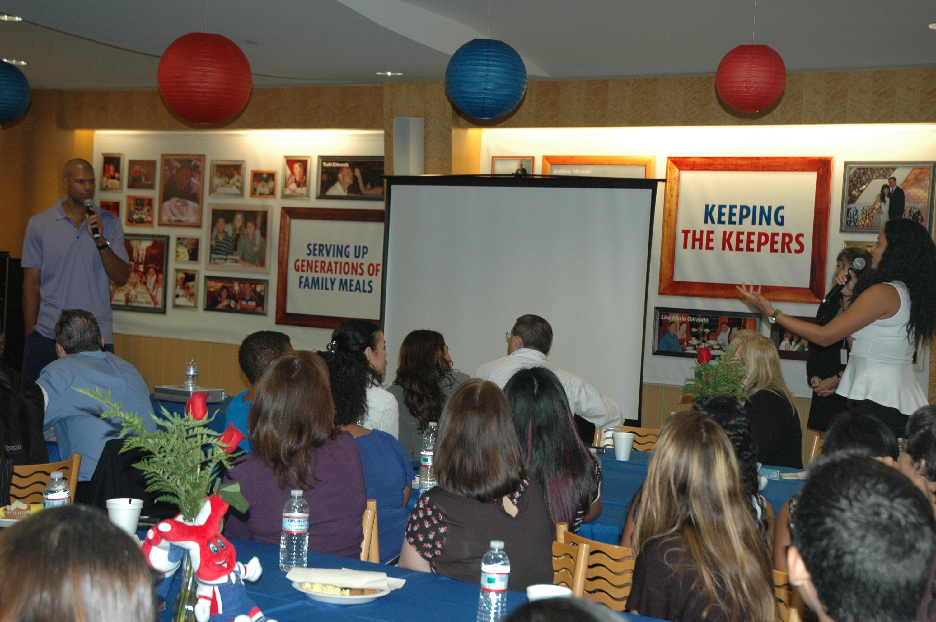 NBA Champion Shane Battier Addresses Students Participating In Carnival's Scholarship & Mentoring Program