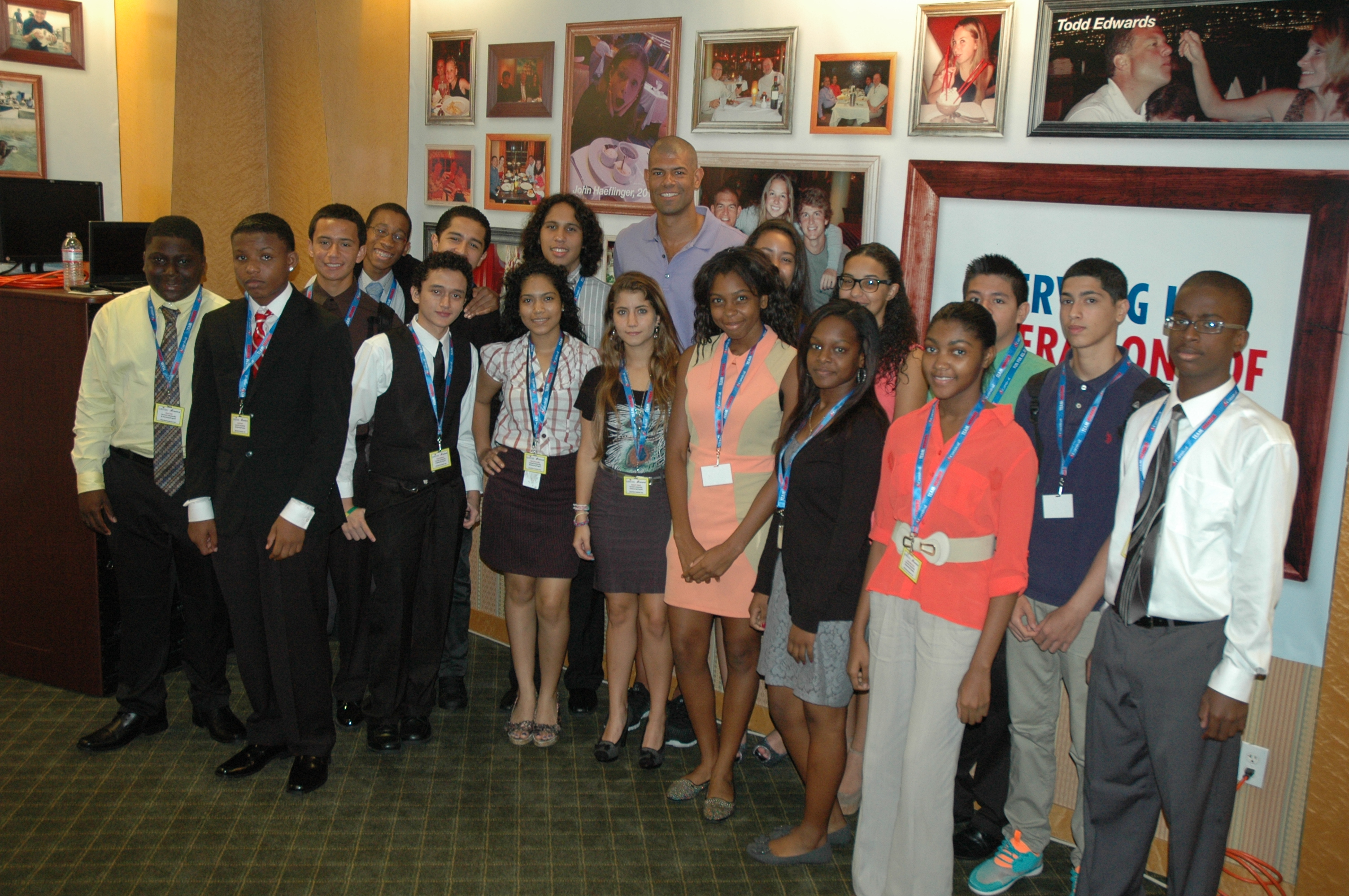 NBA Champion Shane Battier Addresses Students Participating In Carnival's Scholarship & Mentoring Program