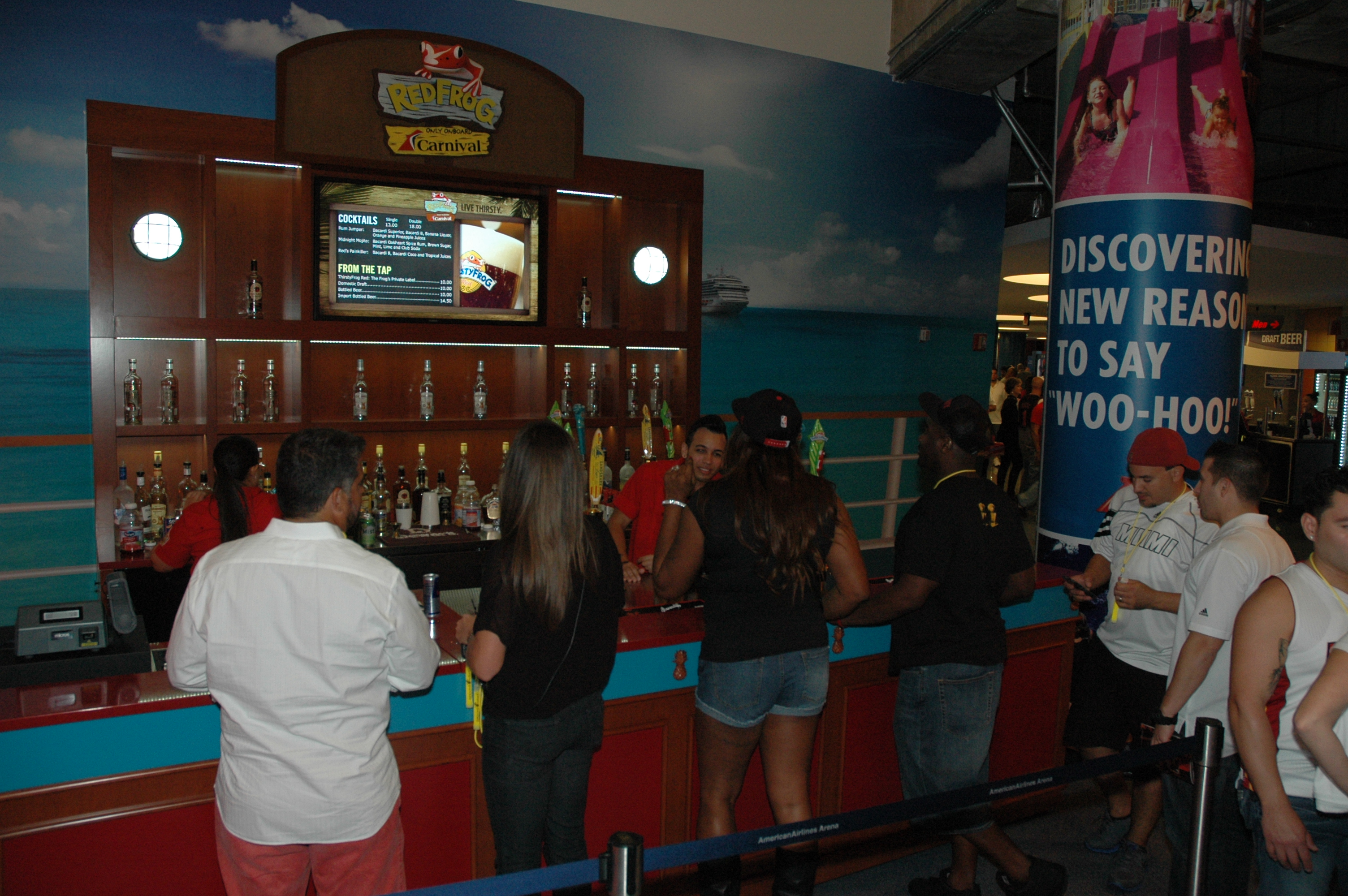 Carnival Debuts Three New Tropical-Themed Bars At AmericanAirlines Arena, Home of the Two-Time Defending NBA Champion Miami Heat
