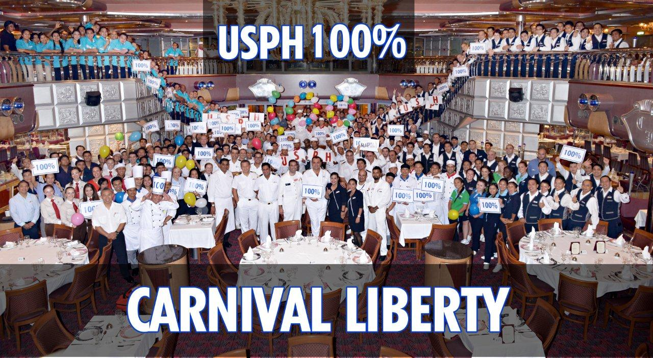 Carnival Liberty, Carnival Paradise Earn Perfect 100 U.S.P.H. Inspection Scores