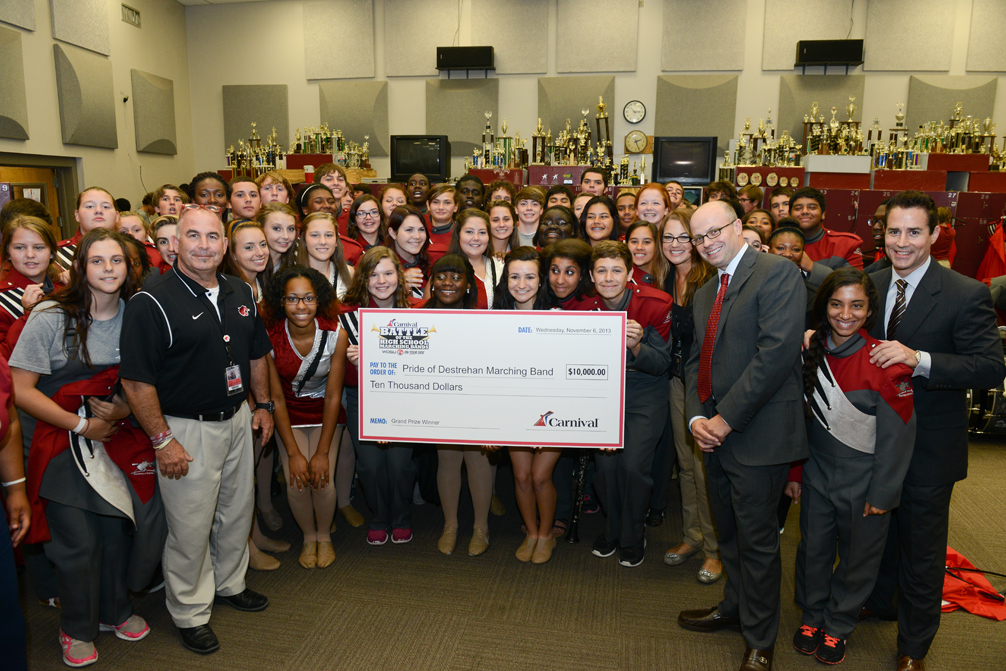 Greater New Orleans' Destrehan High School Wins Carnival Cruise Lines and WDSU-TV's 'Battle of the High School Marching Bands' Contest