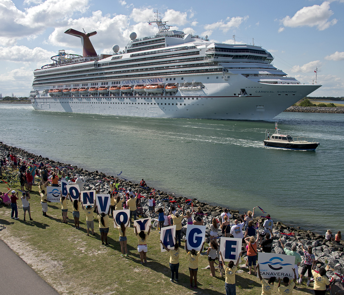 Carnival Sunshine Sails on Inaugural Caribbean Voyage from Port Canaveral