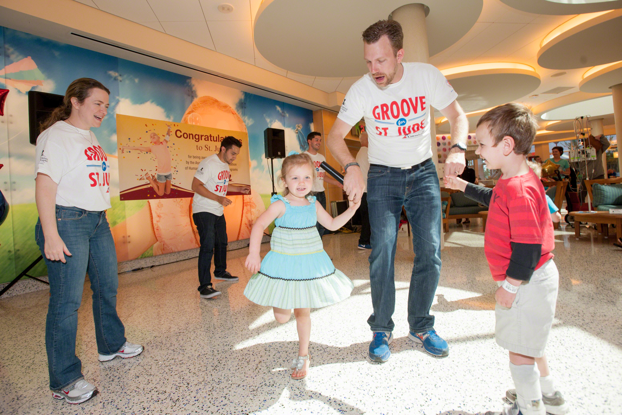 Carnival Celebrates National Dance Day at St. Jude Children's Research Hospital