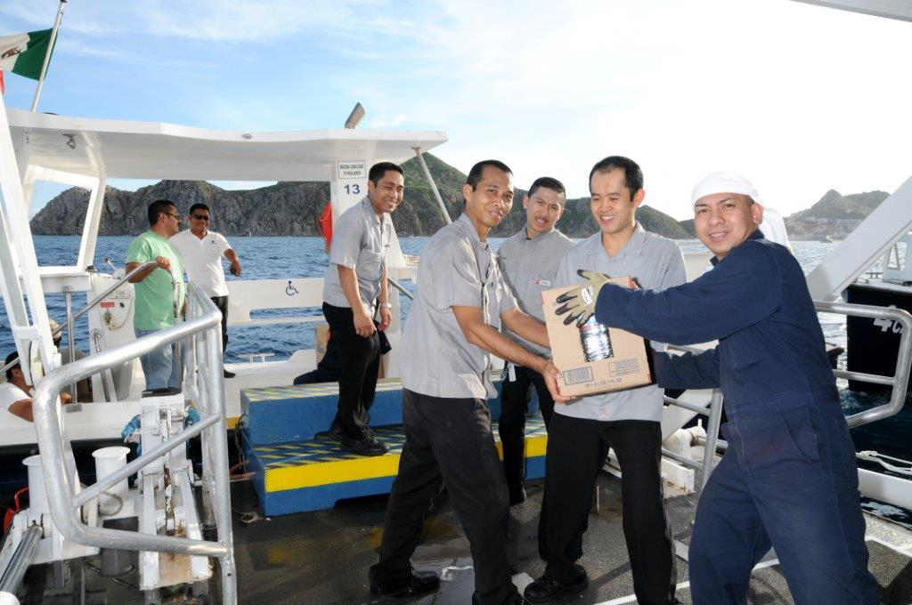 Carnival Miracle Delivers Relief Supplies to Cabo San Lucas Following Hurricane Odile
