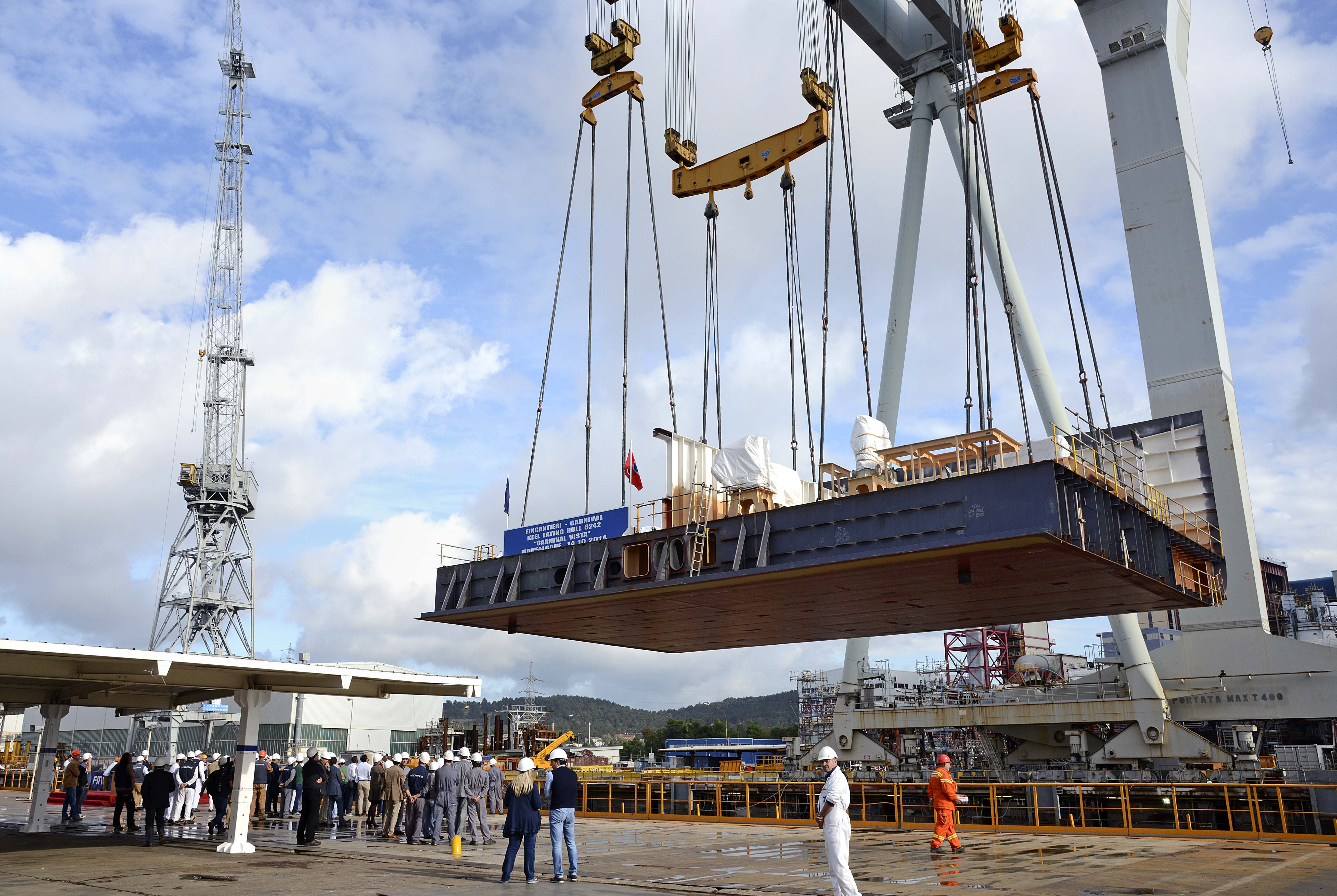 Keel-Laying Ceremony Held For New Carnival Vista; 133,500-Ton Ship Set To Debut In Spring 2016