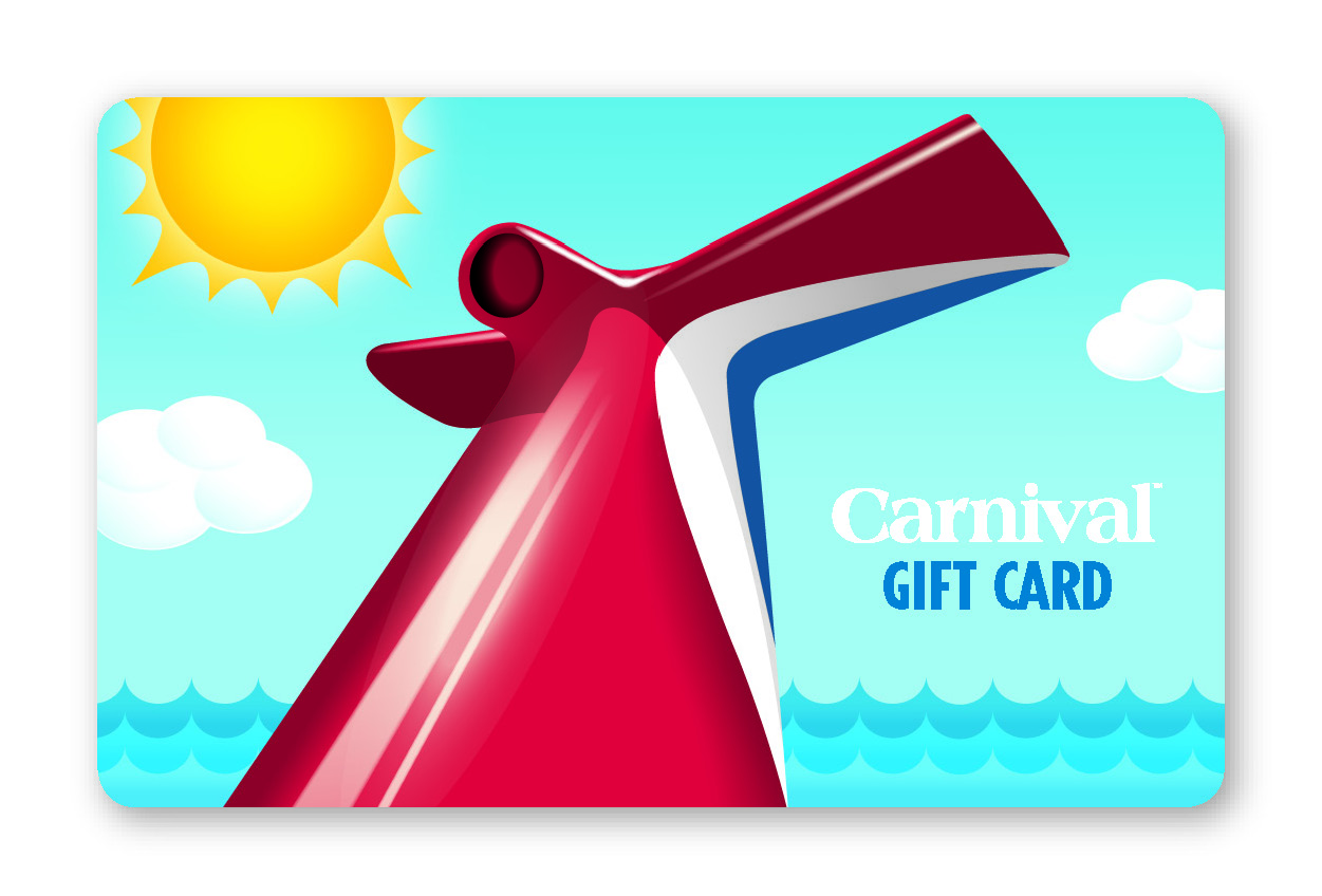 carnival cruise gift card carnival cruise lines gift cards now available in more 1274