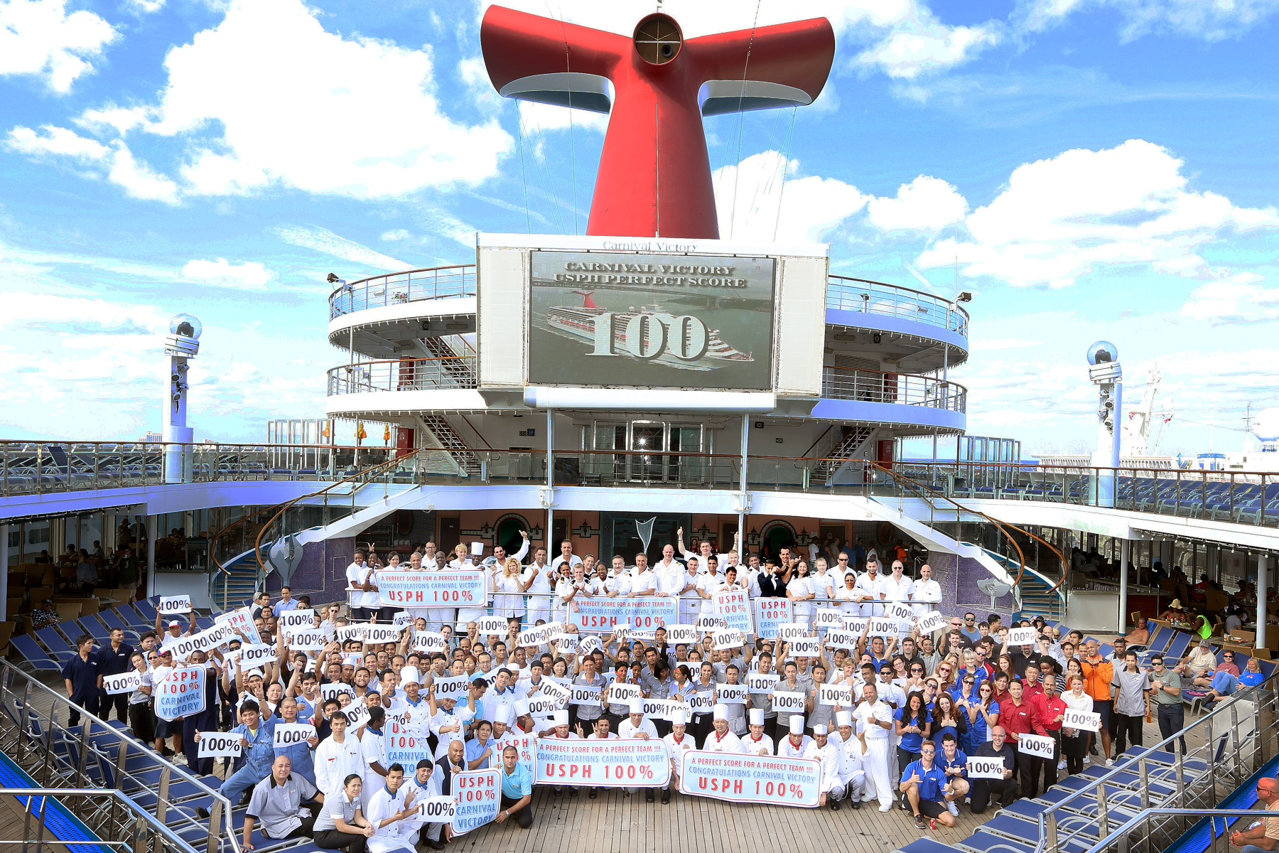 Carnival Victory Earns Perfect 100 U.S.P.H. Inspection Score