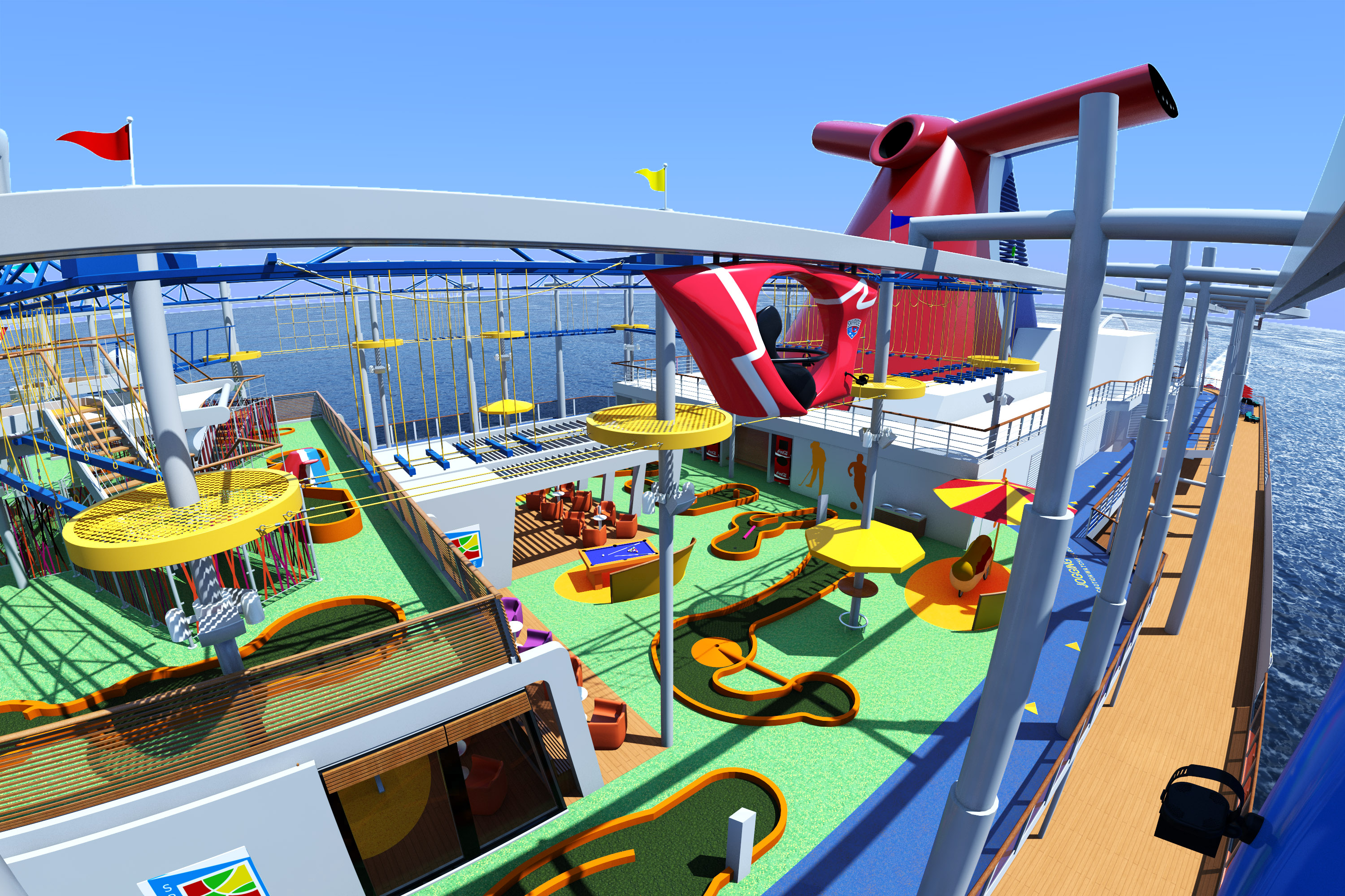 Coming In 2016: New Carnival Vista To Connect Guests To The Sea With Sweeping Ocean Views At Every Turn; Will Also Feature High-Altitude Sky Ride And World's First IMAX ® Theatre At Sea