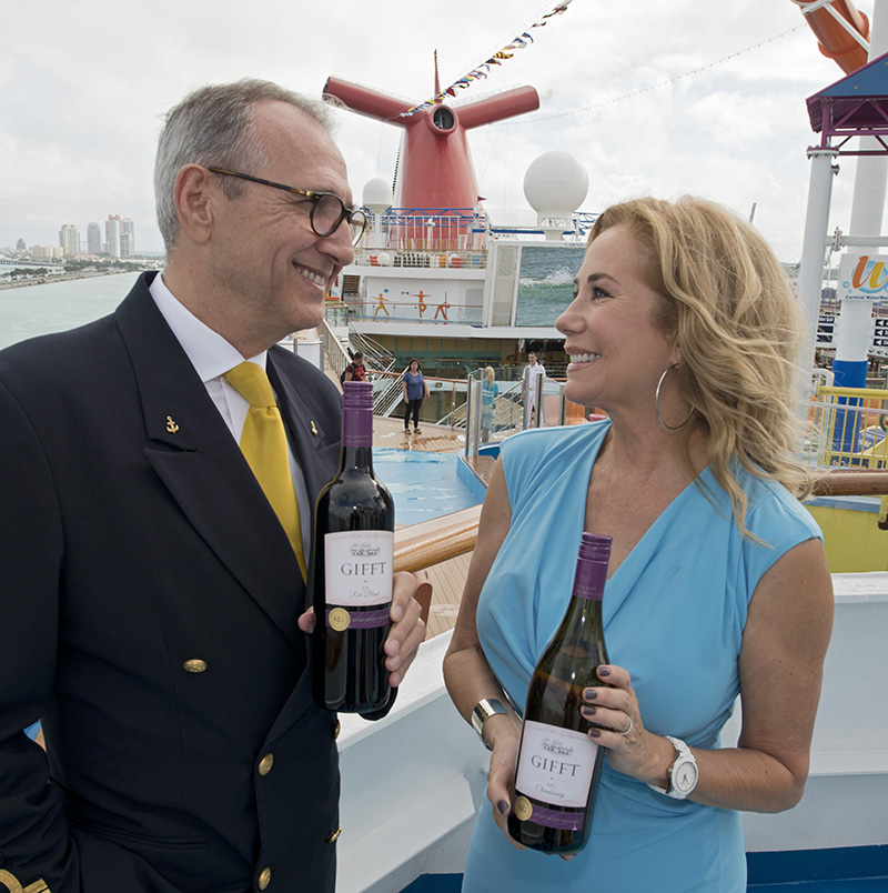 Ain't We Got Fun: Kathie Lee Gifford Boards Carnival Breeze To Announce 'Gifft' Wine Partnership To Surprised Cruisers