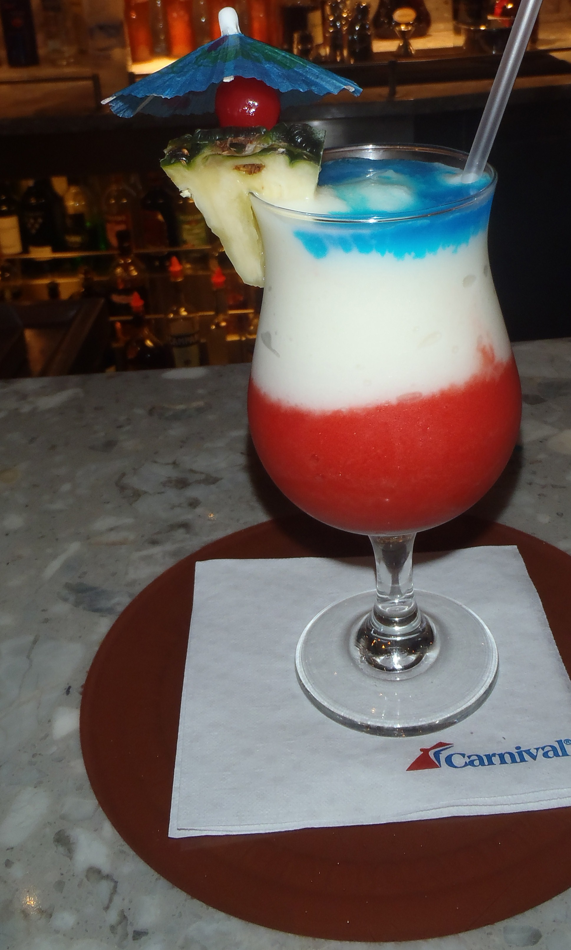 Refreshing Custom Cocktails Created by Carnival Bartenders for Sunday's Big Game
