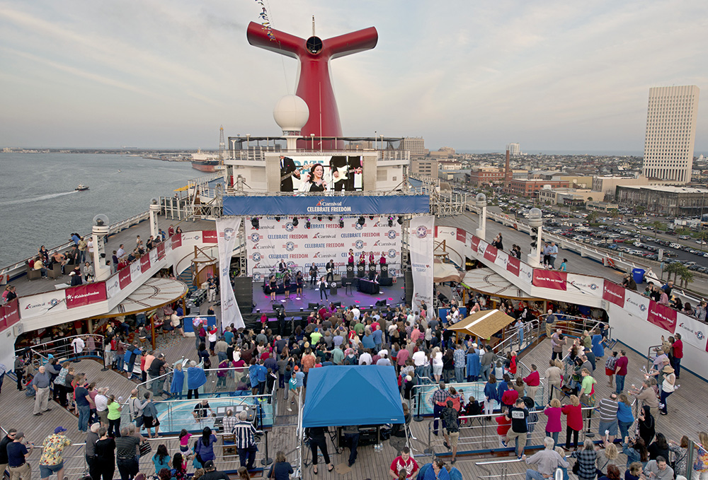 Carnival Freedom's Arrival In Galveston Marked With $100,000 Donation To Operation Homefront And Shipboard Concert By Martina McBride