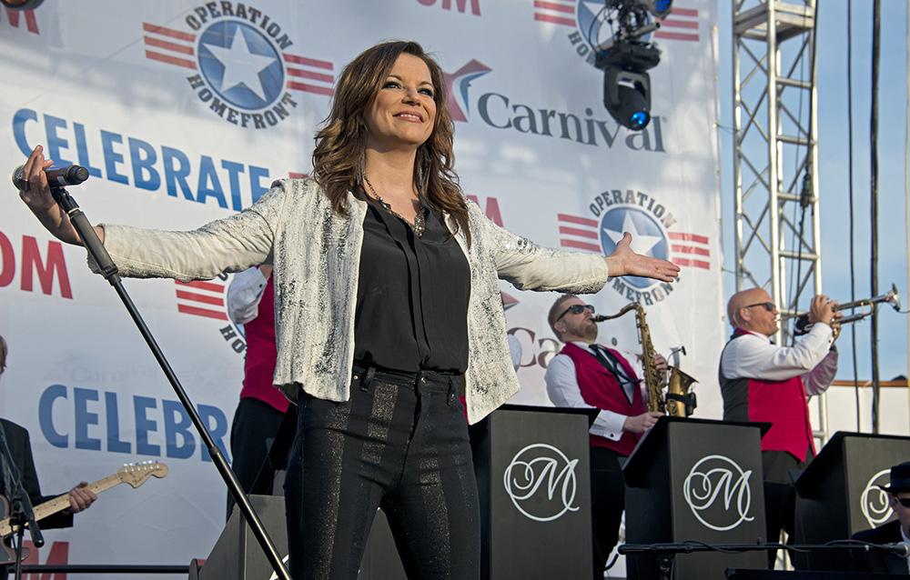 Martina McBride concert on Carnival Freedom in Galveston