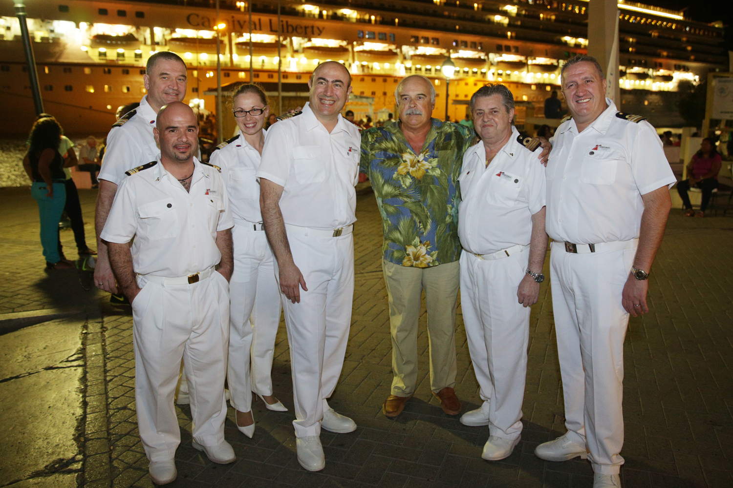 Carnival Liberty's Inaugural Call at Bonaire  Marked with Traditional Maritime Plaque Exchange