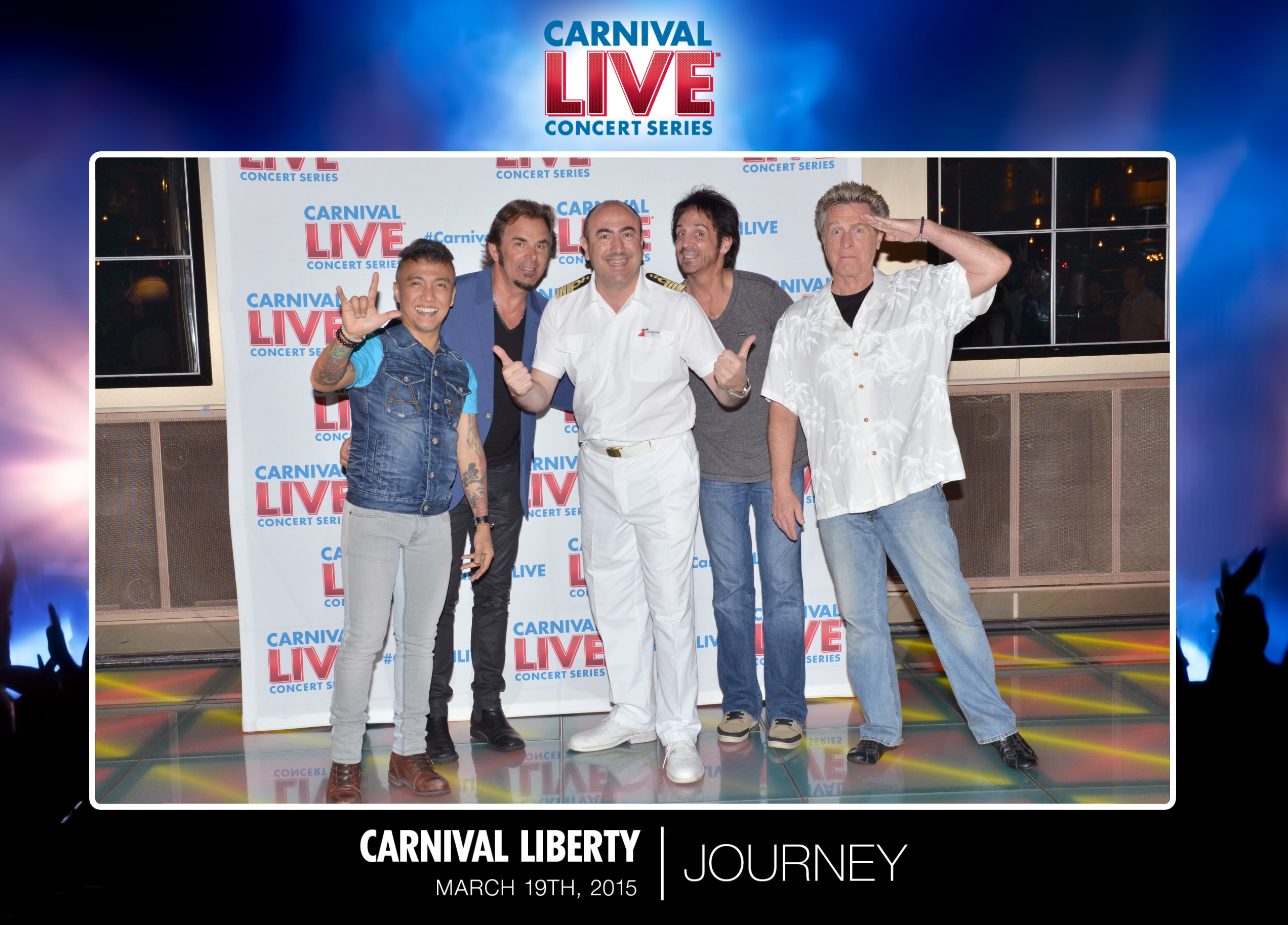 Concerts by Rock Legends Journey on Carnival Liberty and Carnival Splendor Kick Off Carnival LIVE's 2015 Spring Concert Series