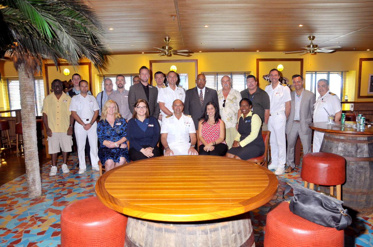 Carnival Pride's Inaugural Call at Bonaire  Marked with Traditional Maritime Plaque Exchange