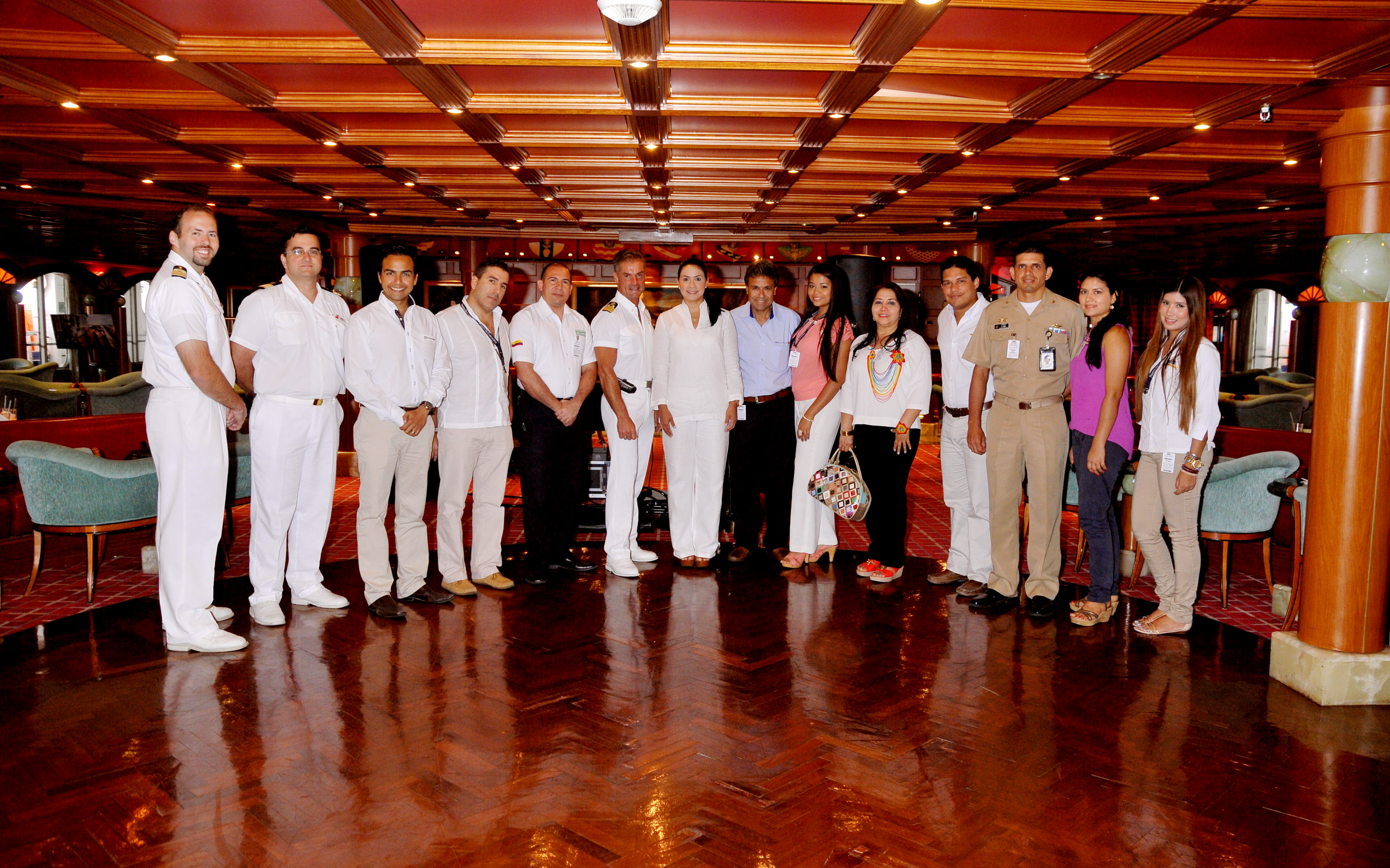 Carnival Triumph's Inaugural Call at Cartagena Marked with Traditional Maritime Plaque Exchange