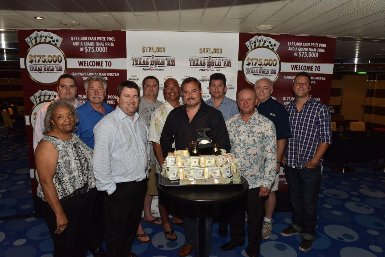 Charleston, S.C., Resident Wins $75,000 First Prize In Carnival Texas Hold'em Challenge Held Aboard Carnival Breeze