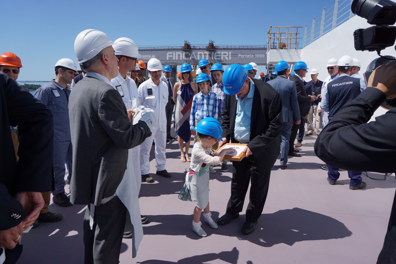 Major Construction Milestone of Carnival Vista Commemorated  With Traditional Maritime Coin Ceremony