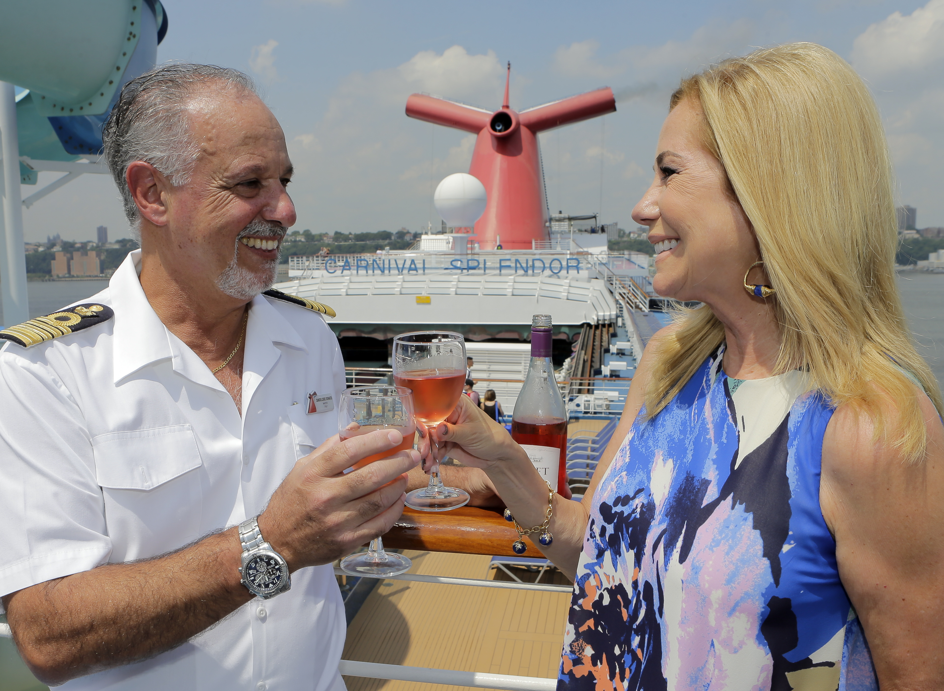 Kathie Lee Gifford Debuts Her New 'GIFFT' Pinot Noir Rose At Special Event Onboard Carnival Splendor in NYC