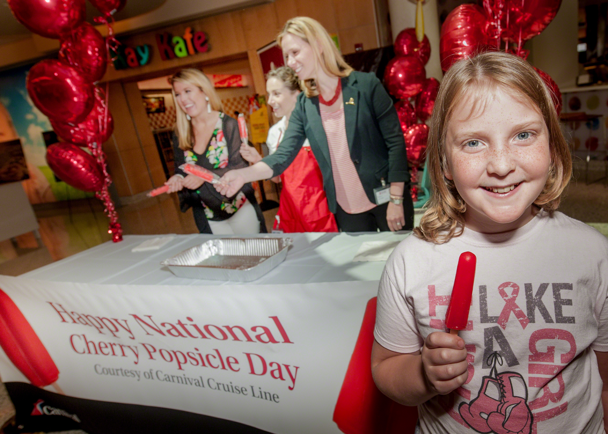 National Cherry Popsicle Day Celebrated at St. Jude Children's Research Hospital® with Special Treats Compliments of Carnival Cruise Line