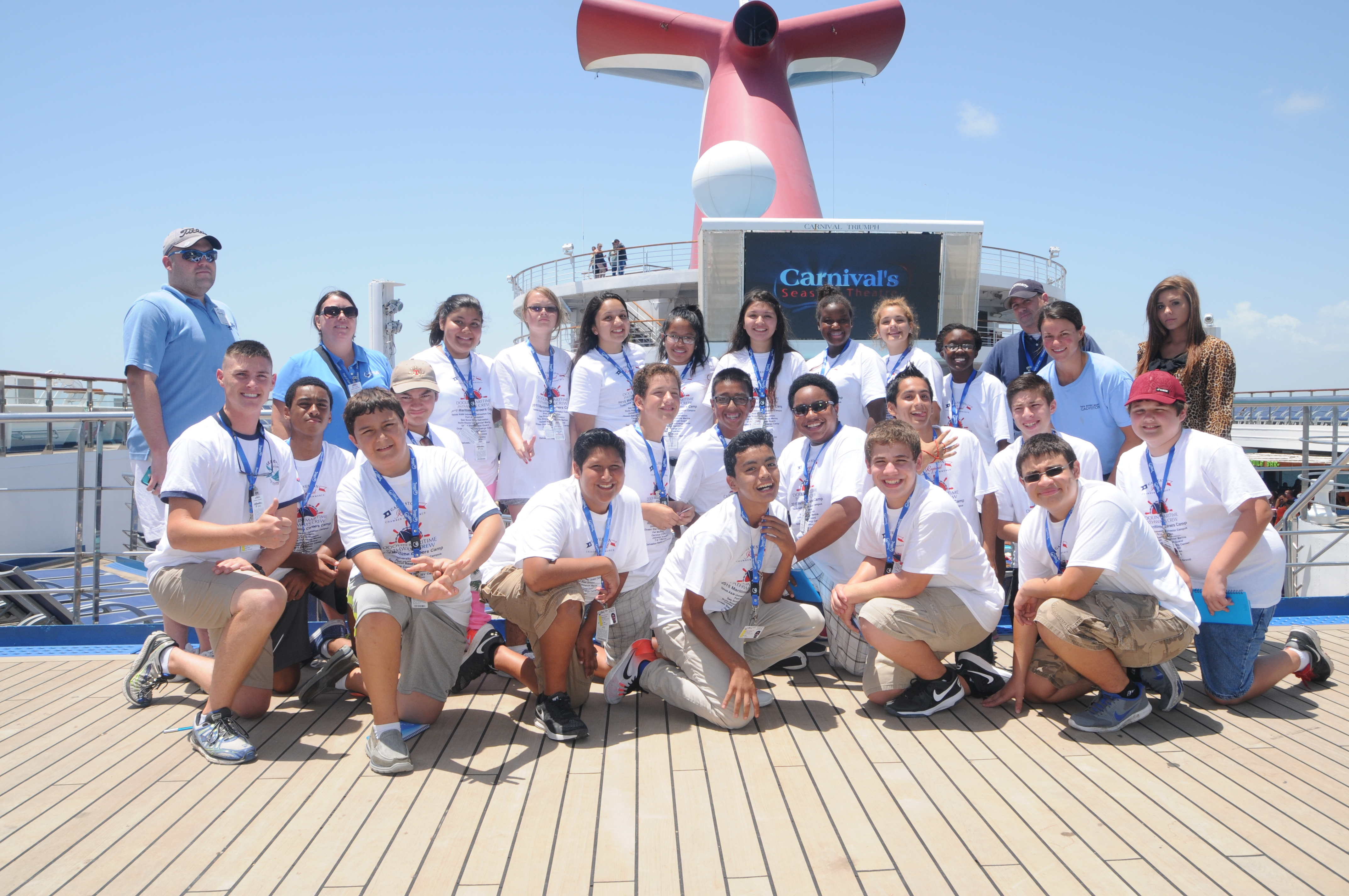 Carnival Triumph Hosts Kids From The Doolin Maritime