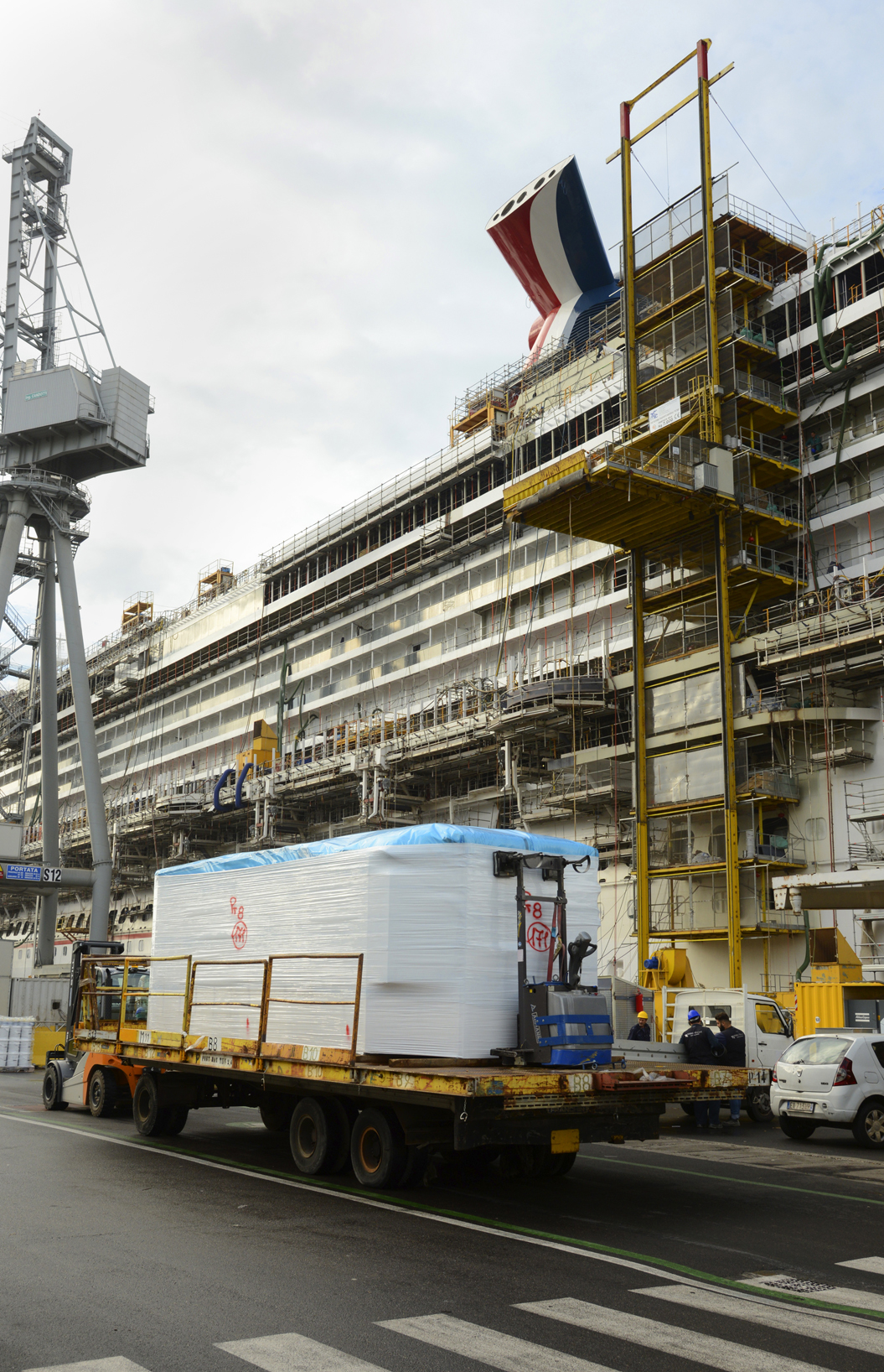 Construction Continues on Carnival Vista in Preparation for Spring 2016 Debut