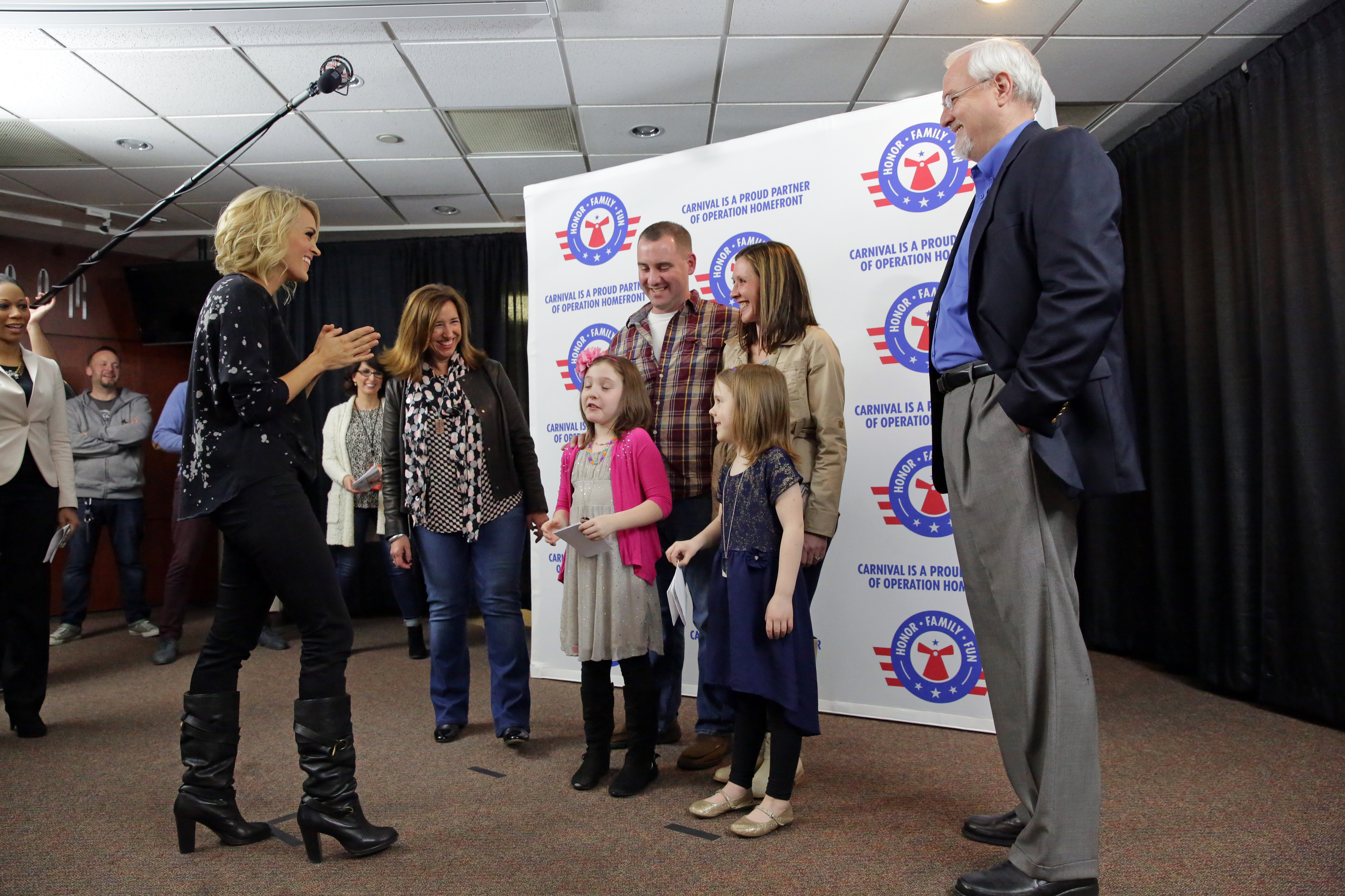 Carnival Teams Up With Country Music Superstar Carrie Underwood and Operation Homefront to Support Military Families at Pre-Concert Meet and Greet