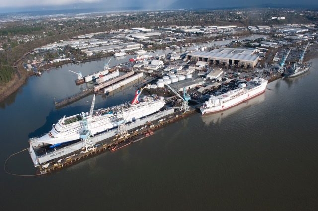 Carnival Inspiration in Final Stages of Multi-Million-Dollar Renovation in Portland, Ore.,  Ship to Resume Service from Long Beach February 8 with Variety of New Features