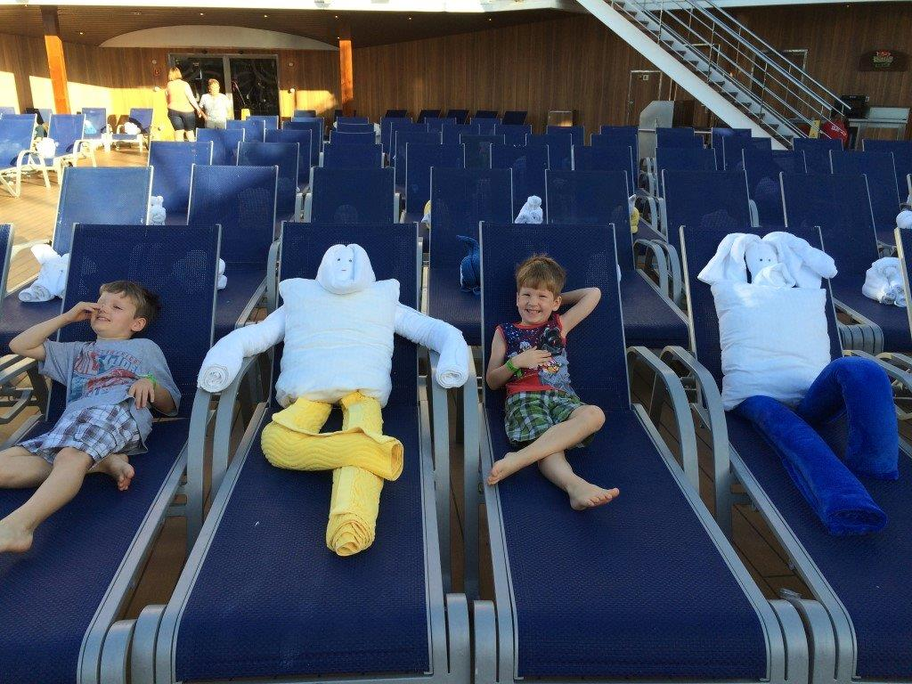 You've Heard of 'Towel Animals?'  Meet the New 'Towel People' aboard Carnival Magic!