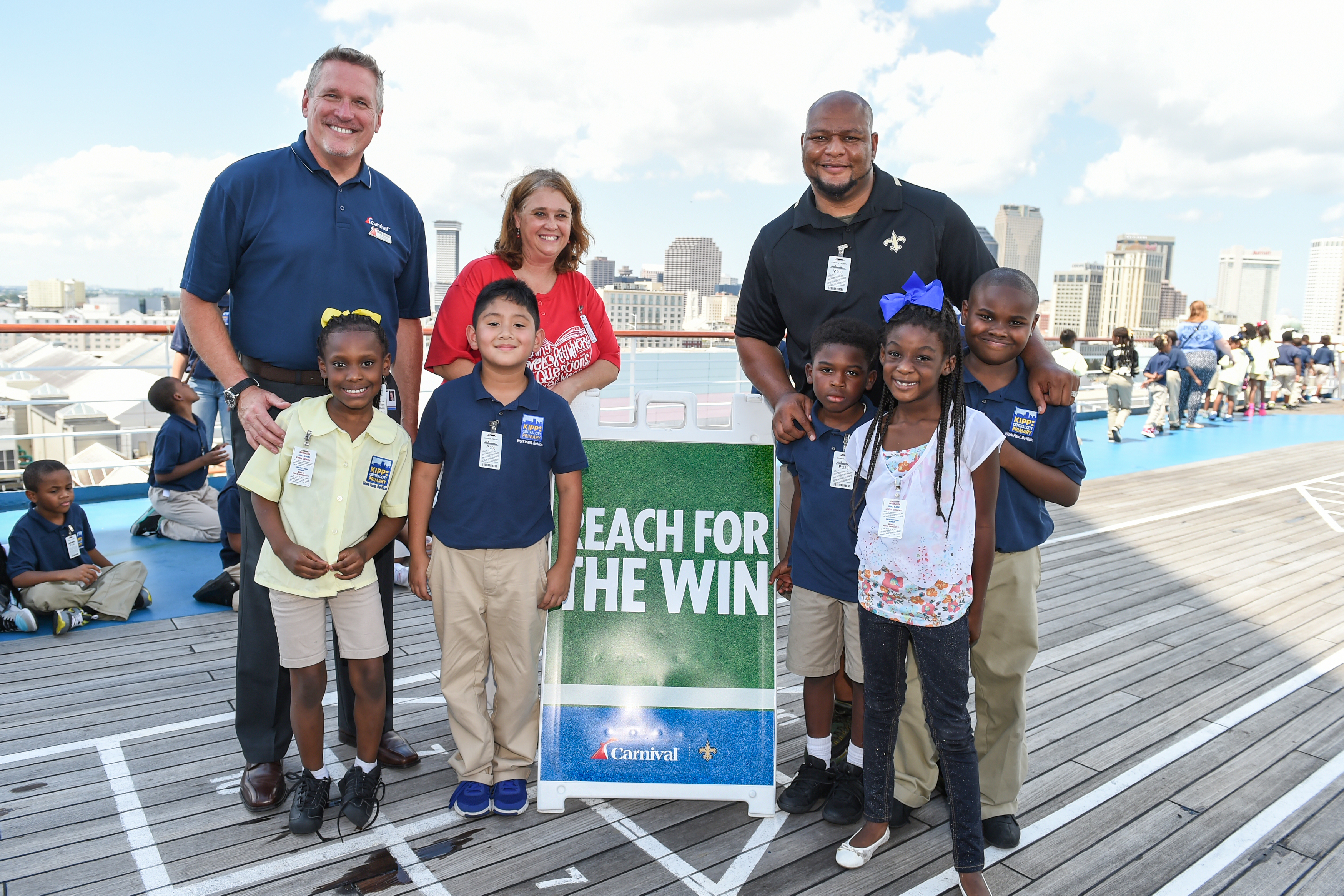 Carnival Cruise Line, New Orleans Saints and Scholastic Book Fairs Team Up to Honor Students With 'Read & Rise' Literacy Event Aboard Carnival Triumph in New Orleans