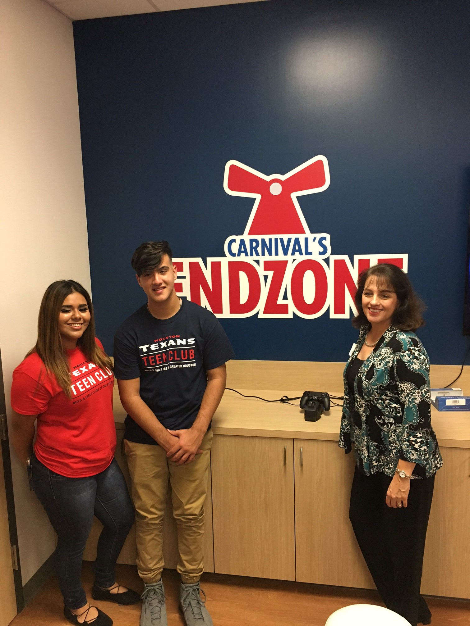 'Carnival's Endzone' Game Room Opens at the New Houston Texans Teen Club  In Partnership with the Boys & Girls Club of Greater Houston