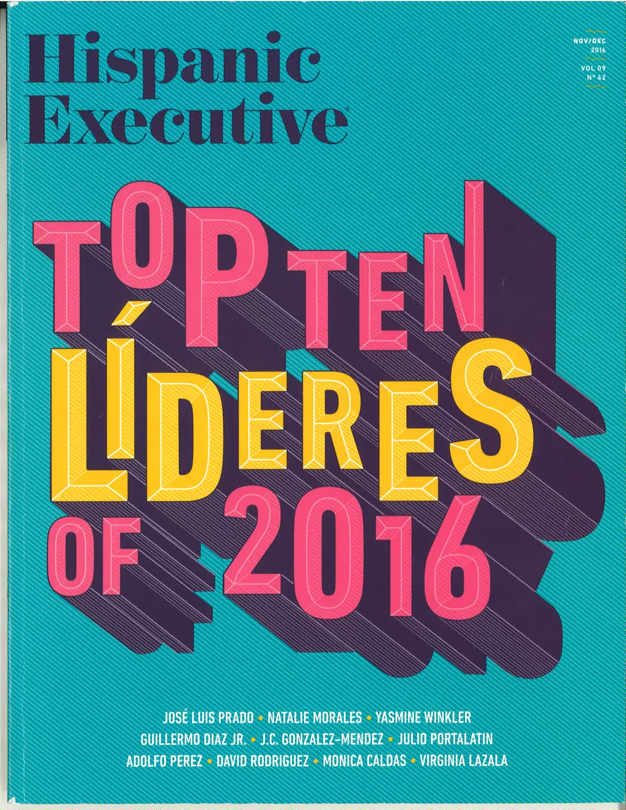 Carnival's VP of Sales and Trade Marketing Adolfo Perez Named to Hispanic Executive Magazine's List of Top Ten Leaders for 2016