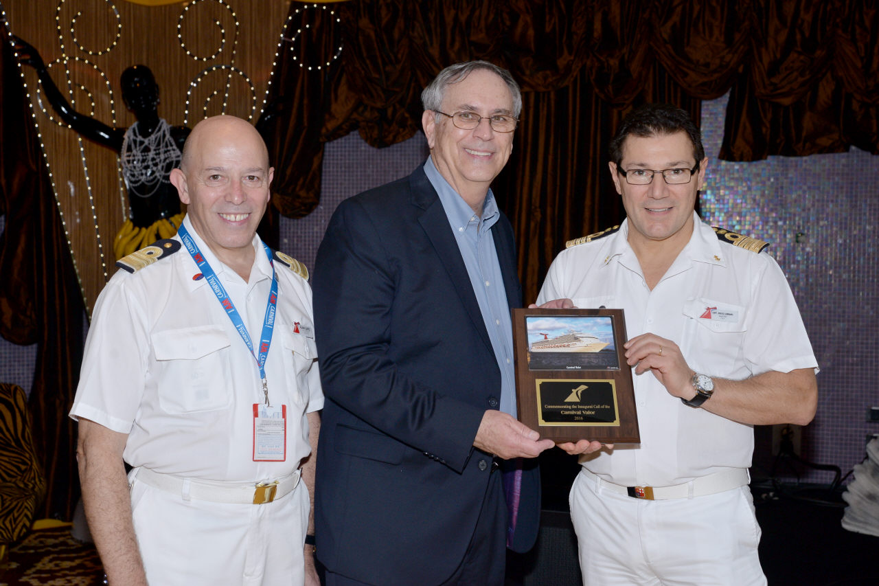 Traditional First Call Ceremony Held to Commemorate Carnival Valor's Arrival in Galveston