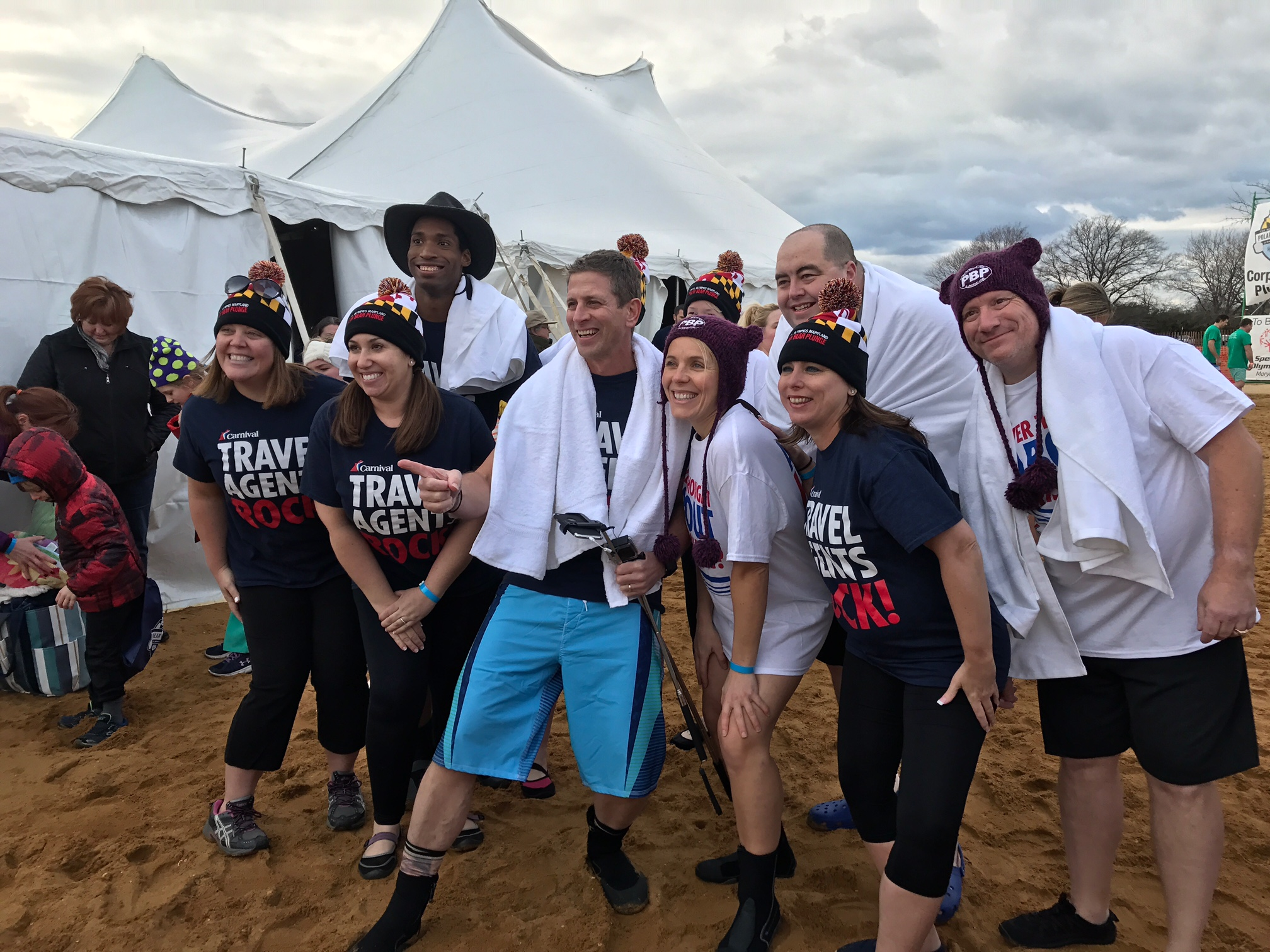 Members of Carnival's Field Sales Team  'Take the Plunge' to Benefit Maryland Special Olympics