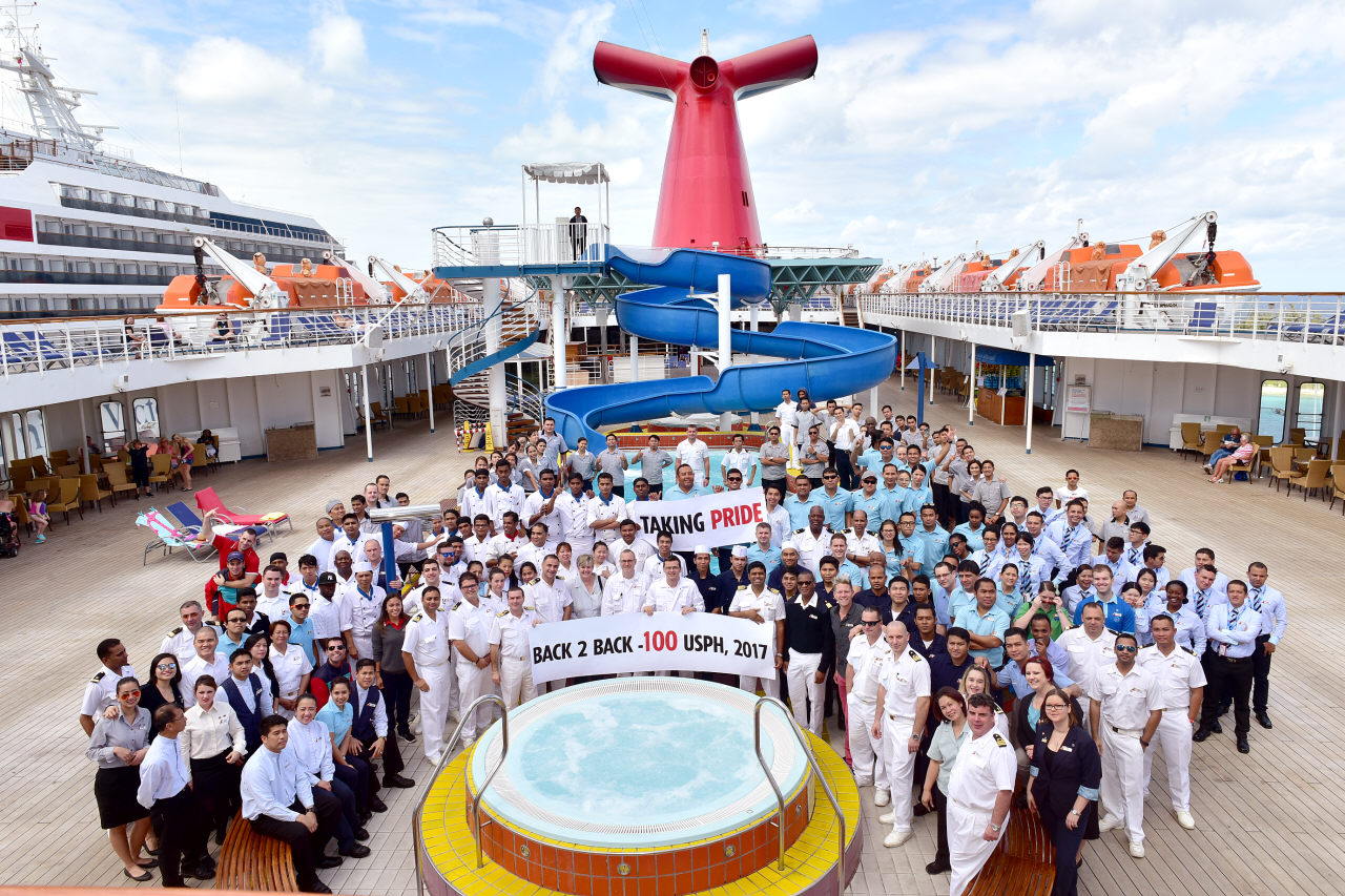 Carnival Elation Earns Second Consecutive 100 U.S.P.H. Inspection Score