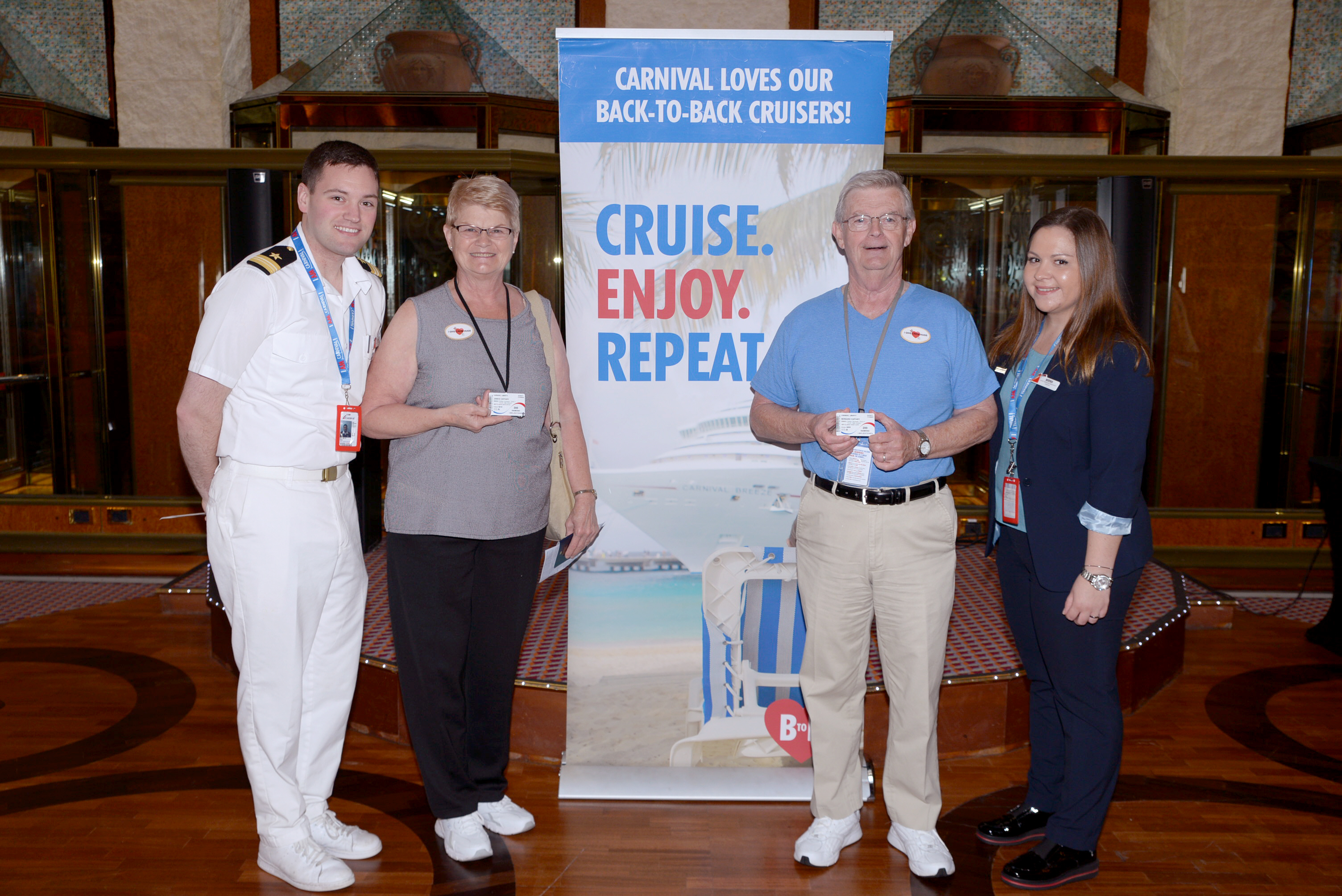 Talk About Brand Loyalty!  Lakeland, Fla., Couple Achieves Unique Milestone, Sails on 200th Carnival Cruise