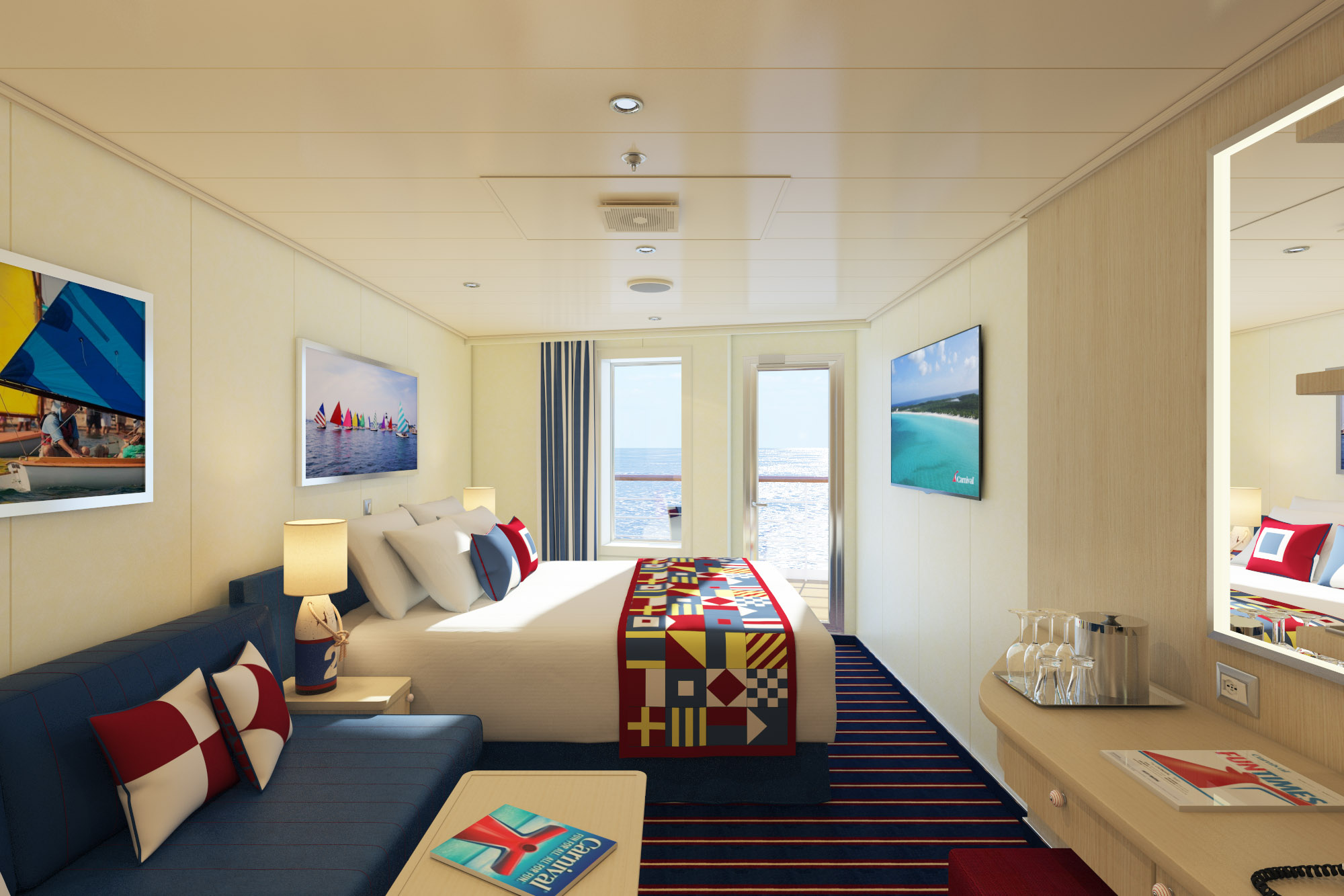 Carnival Horizon to Feature New Aft-View Extended Balcony Family Harbor Staterooms, Additional Havana Cabins